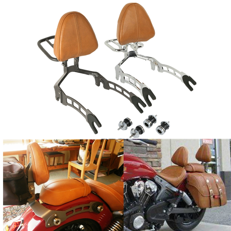 Здесь можно купить  Motorcycle Motorbike Passenger Backrest Sissy Bar Luggage Rack Mounting Spools For Indian Scout 15-18 Scout Sixty 16-19  Автомобили и Мотоциклы