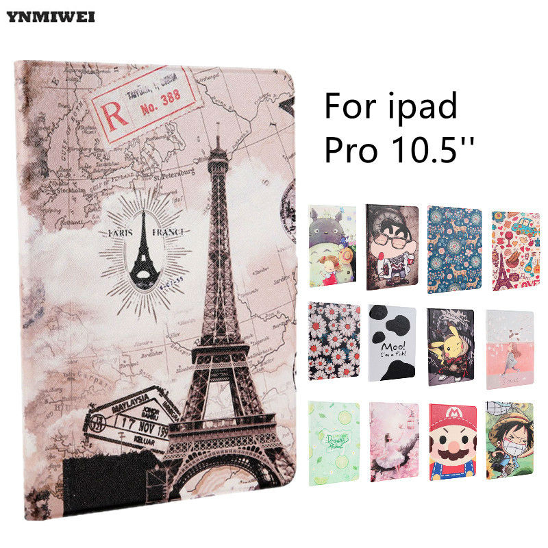 Soft Flip Case For Ipad Pro 10.5 inch Ultra Slim Full Protective Smart Cover Cases For Apple ipad Pro 10.5 Leather Cases + Films leather case flip cover for letv leeco le 2 le 2 pro black