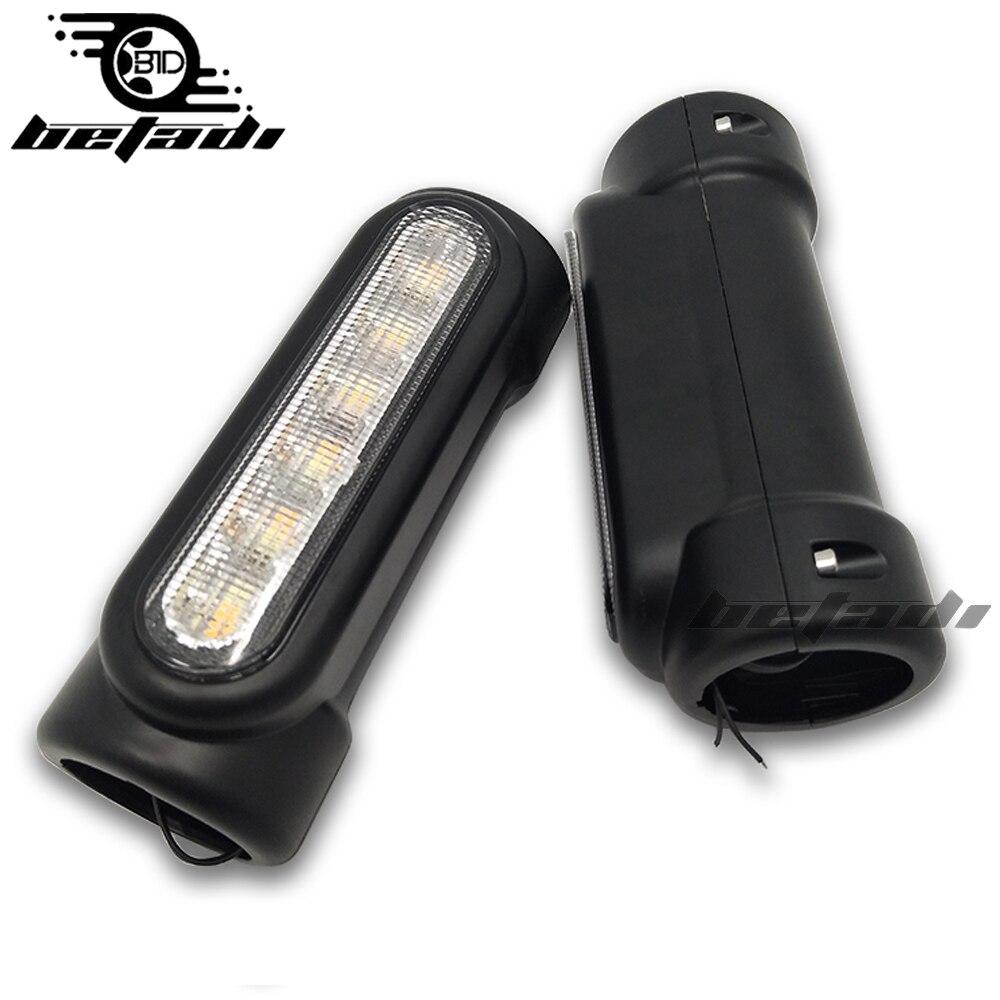 Moto led General purpose Barre La Route Switchback Conduite lumineux Noir Chrome Pour Harley Touring Guard bar light Pour Vctory