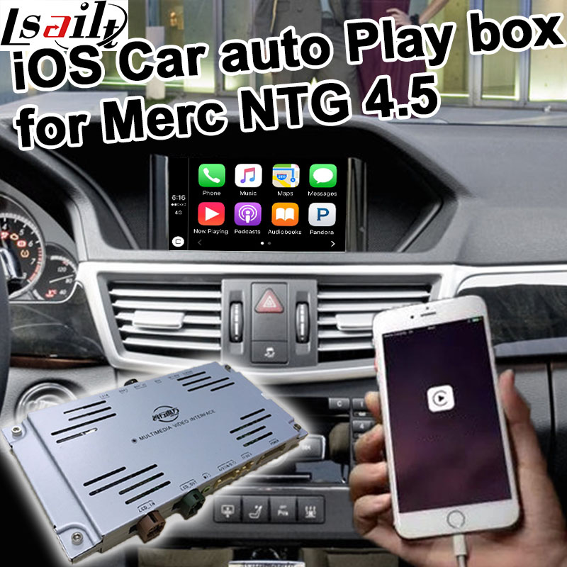 Car auto play box for Mercedes benz NTG 4.5 A B C E GLK ML command & auido20 etc for Mercedes benz carplay