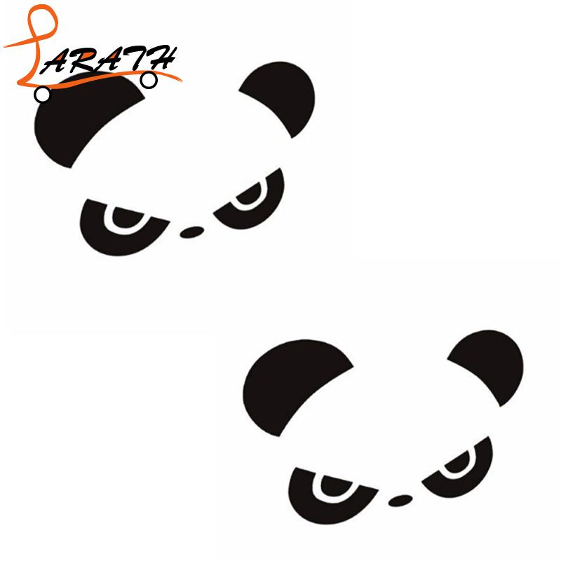 LARATH Hot Sale Car-styling Stickers Panda Reverse Mirror Cartoon Panda Car Sticker Window Decoration MCT2679