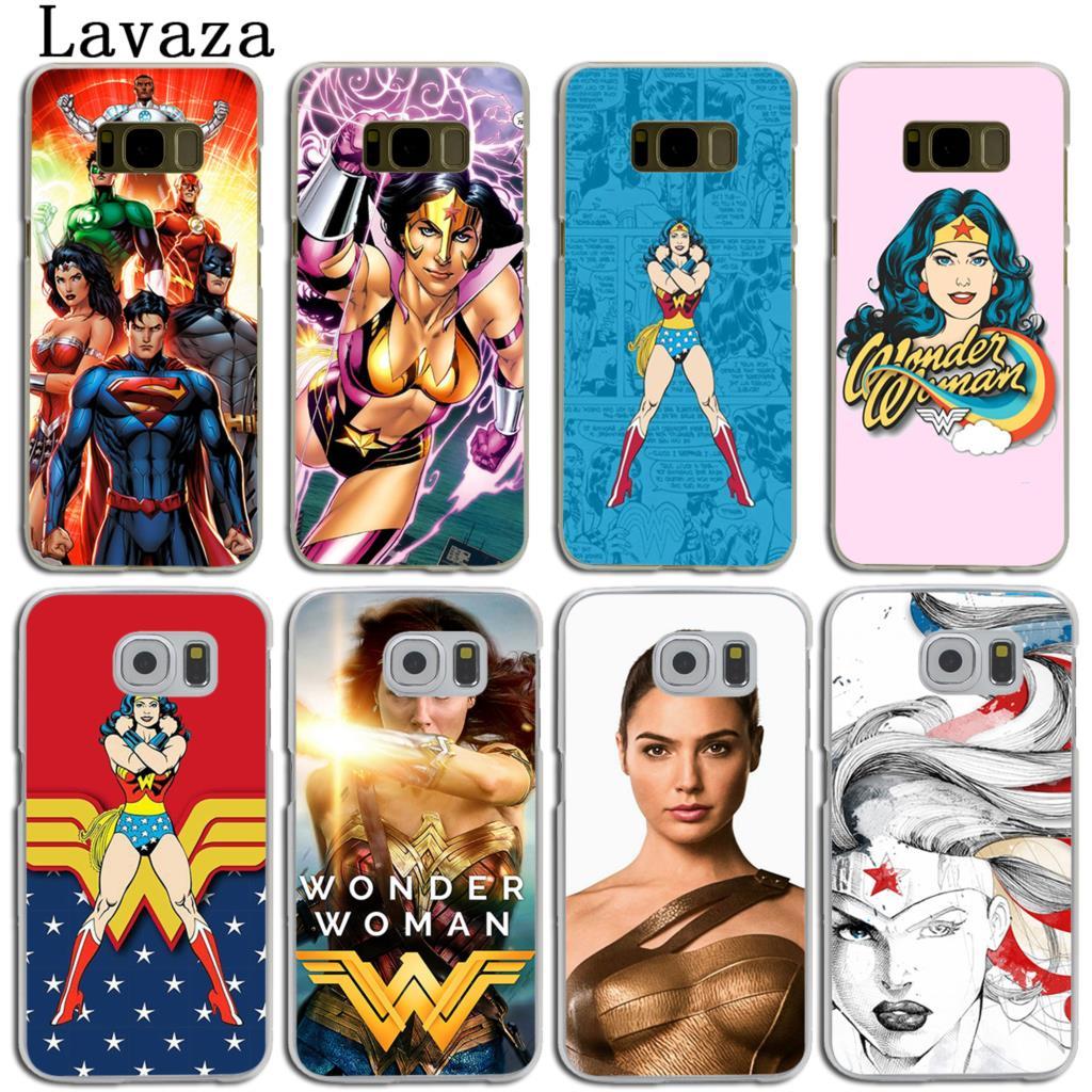 Lavaza dc аниме чудо-женщина жесткий кожи телефон чехла для samsung Galaxy S7 S6 край S3 S4 S5 и мини S8 S9 плюс крышка