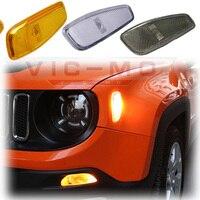 Araba-styling Oto Aksesuarları Için Turn Sinyal Başkanı Işıklar Yan Lambası Jeep Renegade 2015 ~ 2016 Yansıma Uyarı Sinyali işık Kapak