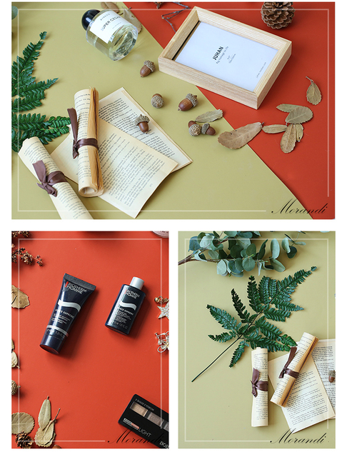 Morandi Solid Color Double sided Photography Backdrop Paper Board Tabletop Shooting Background Adornment for Foods Makeup Tools