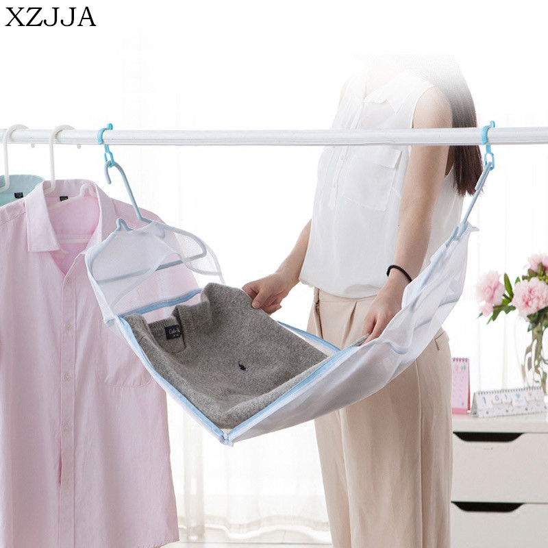 XZJJA Creative Can Be Drying Laundry Bags Bra Underwear Baskets Mesh Bag Laundry Washing Care Pouch Household Cleaning Kits