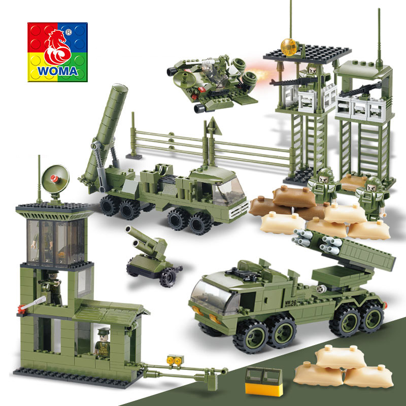 Military Educational Building Blocks Toys For Children Gifts Army Cars Planes Helicopter Weapon Compatible With Legoe 2016 ausini 22607 assembled plastic building blocks educational toys for children of military assault rifles toys for children