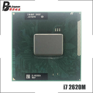 Intel Core i7-2620M i7 2620M SR03F 2.7 GHz Dual-Core Quad-Thread CPU Processor 4M 35W Socket G2 / rPGA988B