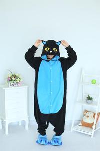 Image 2 - Kigurumi Midnight Cat Onesies Black Cat Pajamas For Unisex Adult Pajamas Cosplay Costume Animal Onesie Sleepwear Jumpsuit