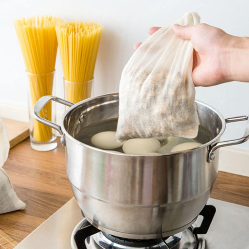 26*20cm Kitchen Cooking Supplies Cotton Drawstring Filter Pockets Soup Filter Bags