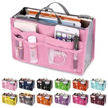 Organizer Insert Bag Women Nylon Travel Insert Organizer Handbag Purse Large liner Lady Makeup Cosmetic Bag Cheap Female Tote cheap Cosmetic Cases Zipper C468 10cm 18cm coofit 28 cm 100g Solid Casual Makeuo Bag Insert Organizer Clutch Bags Large Capacity Ladies Women Cosmetic Bag For Daily Use