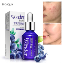 BIOAQUA Blueberry Wonder Essence For Face Skin Care Effect Plant Extract Anti Wrinkle Facial Serum Sodium Hyaluronate Serum bioaqua blueberry wonder essence for face skin care effect plant extract anti wrinkle facial serum sodium hyaluronate serum