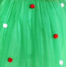 Christmas Santa Hat Long Sleeve Girls Party Dress