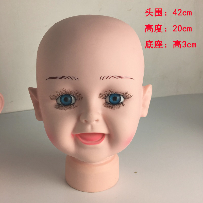 Durable Plastic Baby Kids Mannequin Head Dummy Display Scarves Wigs Hats