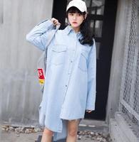 European London High Street Style Women S Plus Size Classic Cotton Denim Shirt Dress Np50