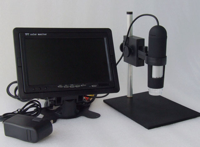 7Inch Monitor included HD 1200X AV Digital Microscope High Resolution Electron Microscope 8-LED Applicable to AV/TV
