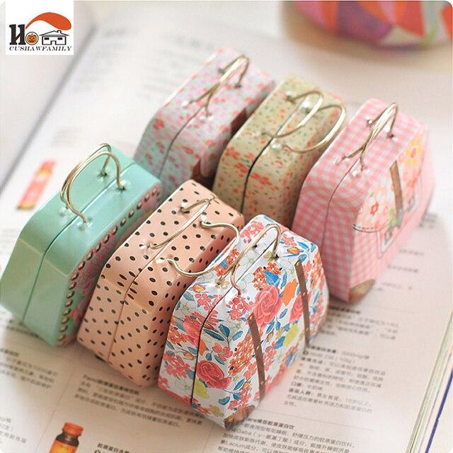 CUSHAWFAMILY 1 pz creativo di Grandi Dimensioni borse stile candy storage box favore di cerimonia nuziale scatola di latta cavo organizzatore container famiglia