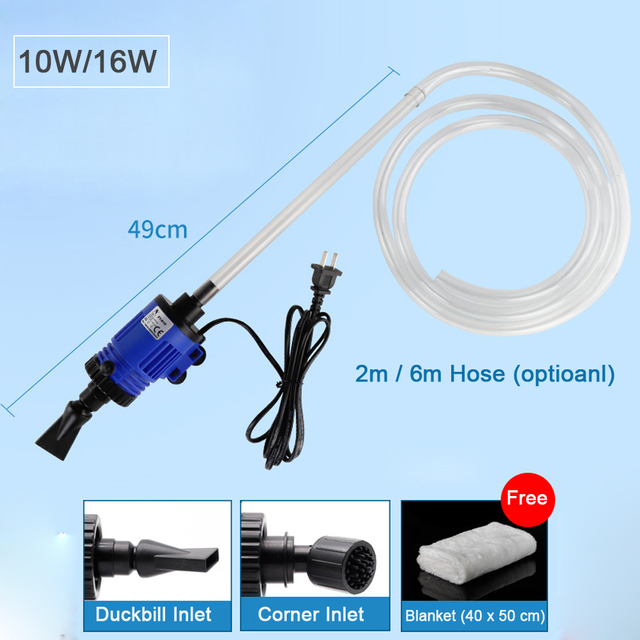 Automatic Fish Tank Water Changer Pump Aquarium Gravel Cleaner Fish Feces Siphon Vacuum Pump Cleaner With Hose Blanket 220V-240V 1