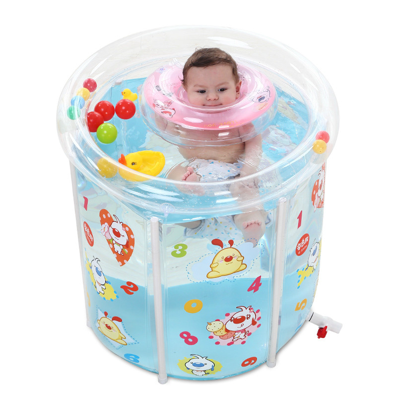 Thickened Swimming Pool Folding Eco-friendly PVC Transparent Infant Swimming Pool Children's Playing Game Pool portable transparent large baby infant swimming pool pvc inflatable pool child toddler water playing game pool baby bath pool