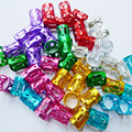 O Envio gratuito de 100 Pçs/lote multi colorido cor do cabelo dreadlock pavor Contas ajustável cuff clipe aprox 8mm buraco Vermelho rosa prata