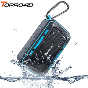 TOPROAD Portable IP67 Waterproof Bluetooth Speaker Outdoor Sport Riding Climbing Bicycle Speakers Support Handsfree TF FM Radio