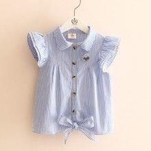 Блузка для девочек 2016 summer stripe