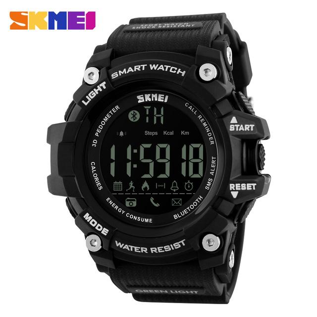 Skmei smart watch homens moda esporte ao ar livre relógios digitais rastreador de fitness do bluetooth ios 4.0 android relógio de pulso das mulheres dos homens