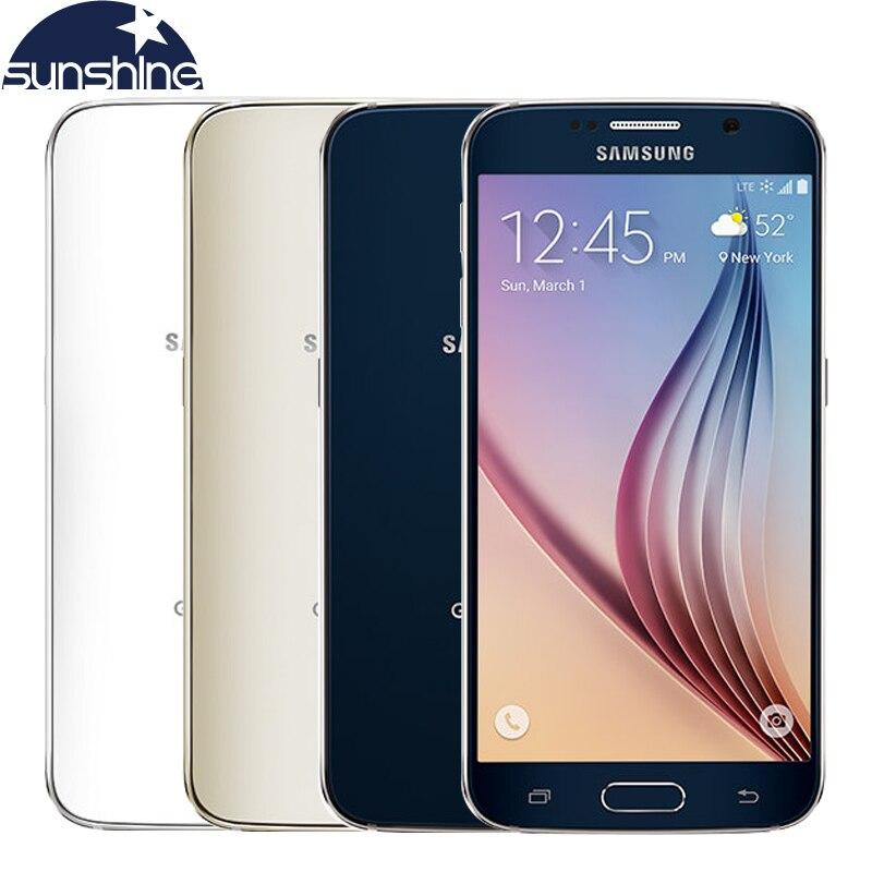 Abierto original samsung galaxy s6 teléfono móvil 3g ram 32g rom octa core 5.1 \