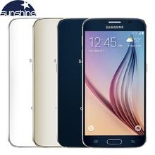 """Оригинальный разблокирована samsung galaxy s6 мобильный телефон 3 г ram 32 г rom окта основные 5.1 """"16.0mp nfc смартфон"""