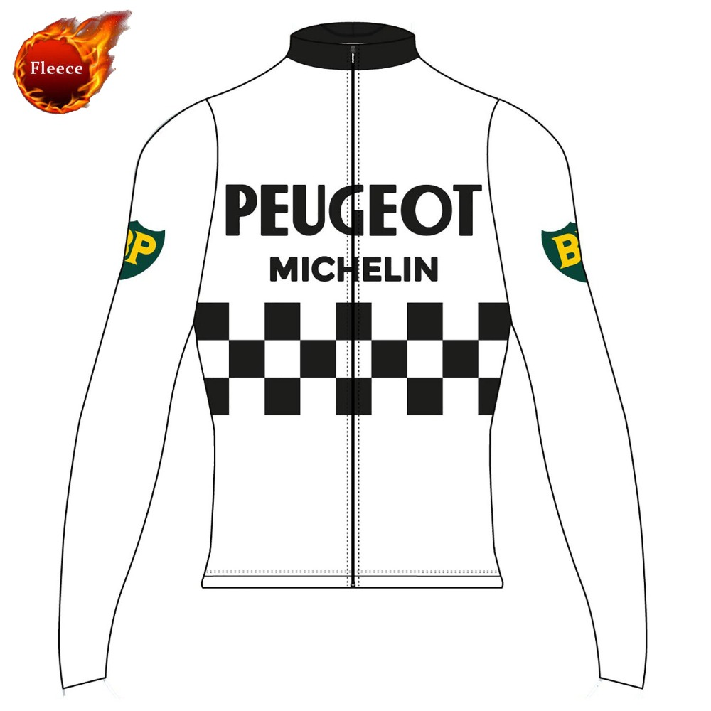 PEUGEOT cycling jersey Men long sleeve bike wear winter fleece and Spring  Autumn thin cycling clothing ropa Ciclismo-in Cycling Jerseys from Sports  ... 08a21048f