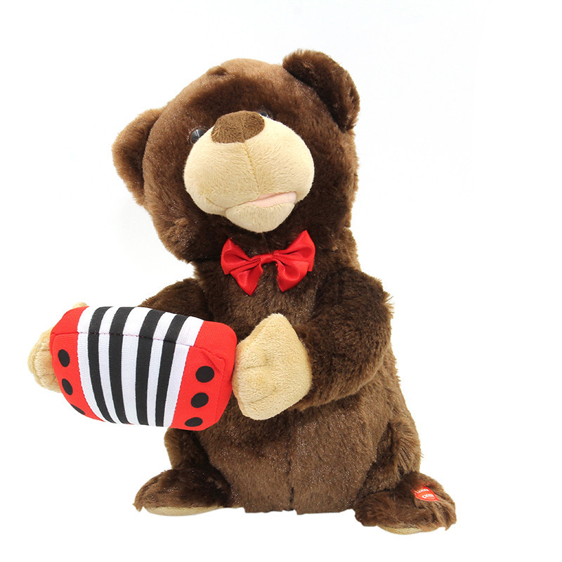 Animated Christmas Toys : Animated play accordion bear musical sing and dance mouth
