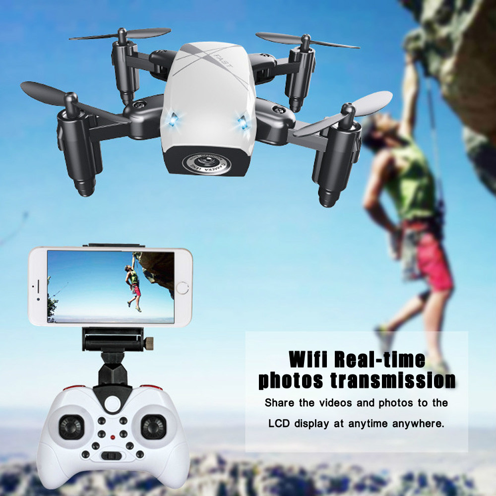 S9 S9HW Mini Foldable Pocket Drone with HD Camera <font><b>Dron</b></font> <font><b>FPV</b></font> RC WIFI Quadcopter/Helicopter VS visuo Xs809hw JJRC H43WH JXD 523W image