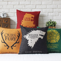 Nordic That Power Game Ice Fire Song Peugeot Pillow Cover Home Decorative Pillows Linen Pillow Case