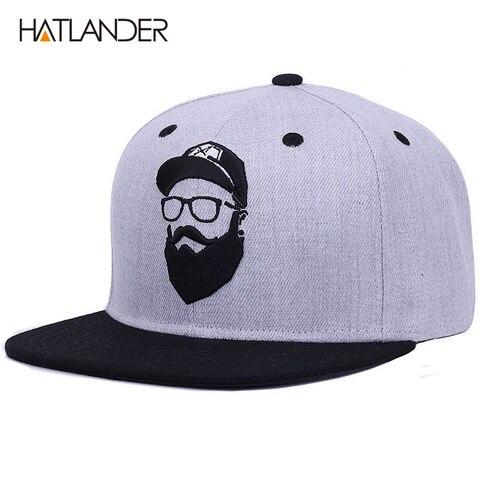 [HATLANDER]Original grey cool hip hop cap men women hats vintage embroidery character baseball caps gorras planas bone snapback Karachi