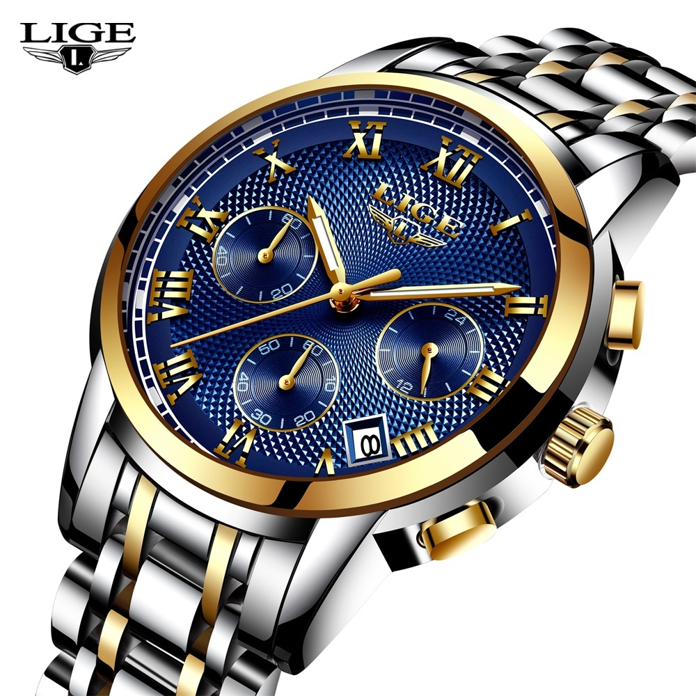 LIGE Mens Watches Top Brand Luxury Male Military Sport Luminous Watch men Business quartz-watch Male Clock Man Relogio Masculino relojes lige mens watches brand luxury men military sport luminous wristwatch male leather quartz watch clock relogio masculino
