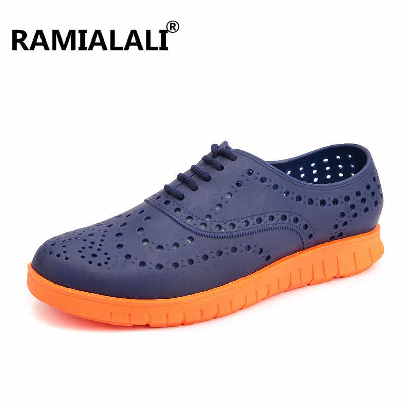 Ramialali Men Sandals Summer Breathable Hole Shoes Men Casual Shoes Outdoor  Men s Garden Shoes High Quality 016115365284
