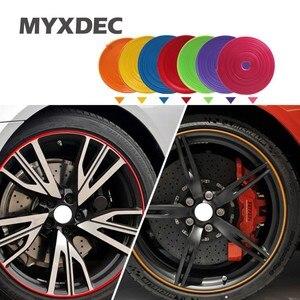 8m/Roll Car Rim wheel Hub Sticker Protector For Toyota VW Mazda Chevrolet Suzuki Ford Hyundai Mitsubishi Car Styling