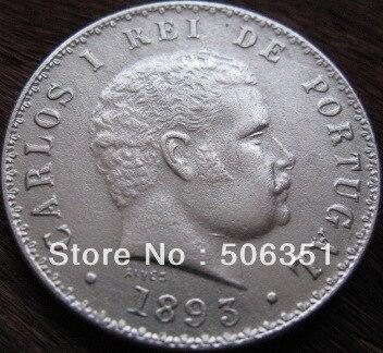 Бесплатная доставка Оптовая продажа реплики 1893 Бразилия 500 Reis Копирование Монеты 100% производства Копер