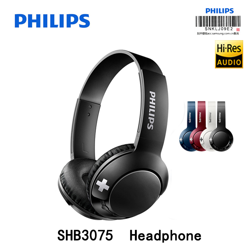 Original Philips SHB3075 Headphone Wireless Bluetooth connection with Mic headsets compatible with almost all Bluetooth devices