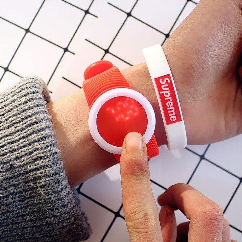 MEIBO Fashion Round LED Outdoor Watches For Women Silicone Jelly Men's Sportswear Quartz WristWatches Relogio Masculino Clock