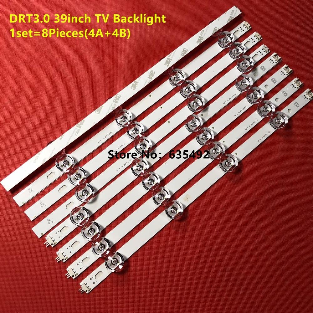 8 komada (4 * A + 4 * B) LED trake za LG 39 inčni TV 390HVJ01 - Kućni audio i video - Foto 6