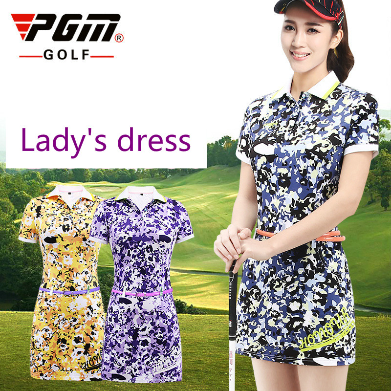 2018 Newest Womens Golf Dress Summer Fashion Breathable Golf apparel Floral Print Short Sleeve Polo Athletic Dress size S-XL