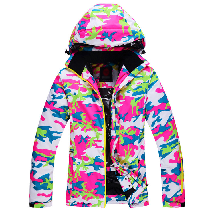 ФОТО Cheap skiing suit Jackets Women Ski Snowboard  Skiing Clothing windproof waterproof -30 Ski Jackets outdoor winter snow custome