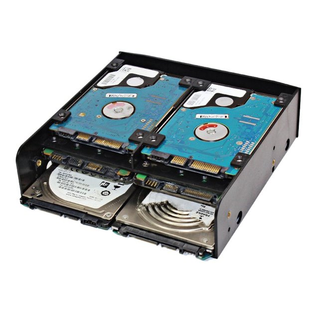 "Combinación multifuncional de dispositivos de conversión de disco duro multiusos estándar de 5,25 pulgadas para 2,5 ""3,5 ""disco duro"