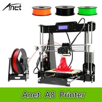 Anet A8 3D Desktop Printer 0.4mm Nozzle 220 X 220 X 240mm 100mm/S High Accuracy DIY 3D Printing Kit Large Printing Size As Gift