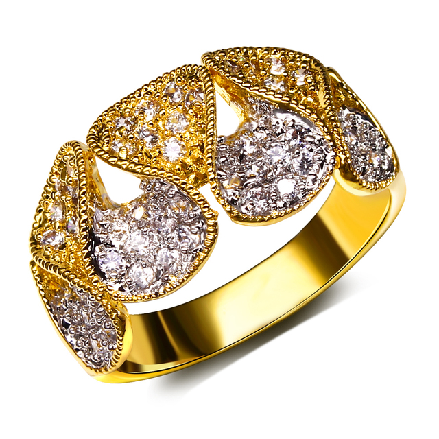 Top Quality 2 Tone Color Plating With Aaa Cubic Zirconia Wedding