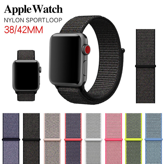 MUSEN Arrival Colors Nylon Sport Loop Replacment Band for Apple Watch Series 1/2