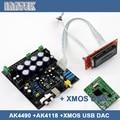 Собраны AK4490 + AK4118 + XMOS USB мягкая управления цап декодер совета, Бесплатная доставка