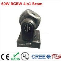 60 Вт светодиодный RGBW 4в1 луч движущаяся голова луч прожекторы супер яркий светодиодный DJ Точечный светильник фирмы