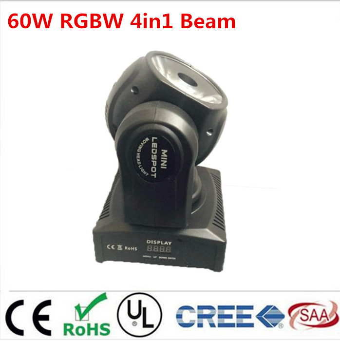 60w led RGBW 4IN1 beam moving head light beam moving heads lights super bright LED DJ Spot Light dmx control lights 6pcs lot dj lights cree 9pcs 15w sharpy beam light 4in1 rgbw moving head beam led light extend robot rotating dmx stage light