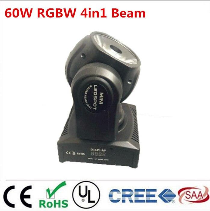 60w led RGBW 4in1 beam moving head light beam moving heads lights super bright LED DJ Spot Light dmx control lights